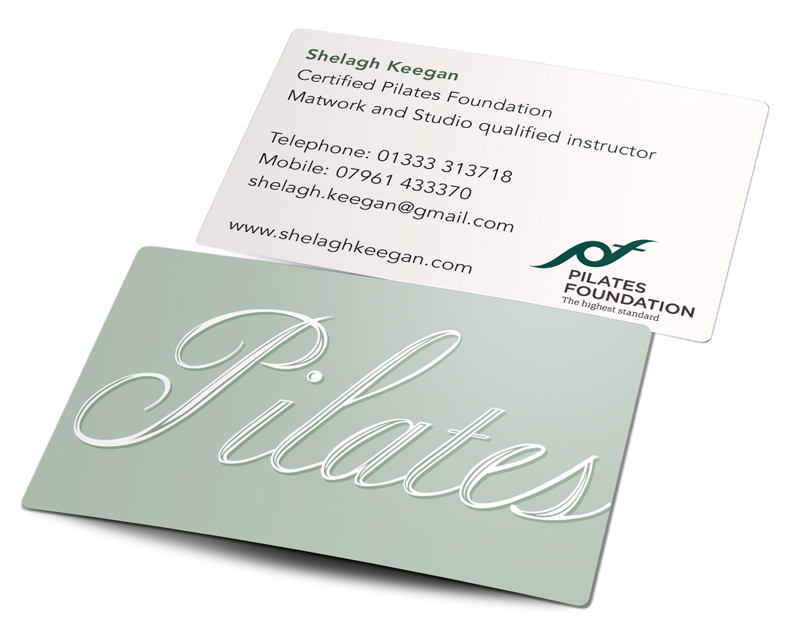 Shelagh Keegan Pilates Business Card
